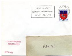 GARONNE / Haute - Dépt N° 31 = MONTREJEAU 1967 =  FLAMME Codée = SECAP  ' MOIS D' AOUT / FOLKLORE INTERNATIONAL' - Oblitérations Mécaniques (flammes)