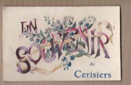 CPA 89 - CERISIERS - Un Souvenir De Cerisiers - TB PLAN CP Fantaisie Sur Le Village - Cerisiers