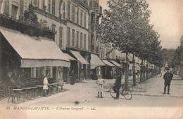 78 Maisons Laffitte Avenue De Longueil Cpa Carte Animée Animation Ecrite En 1899 - Maisons-Laffitte
