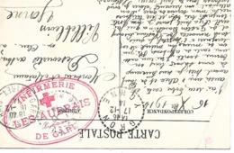 45-cachet Infirmerie De Gare-Les Aubrais Sur CP Patriotique En 1914 - Marcophilie (Lettres)