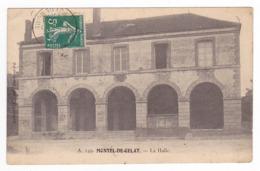 63 Montel De Gelat Vers Manzat Pontaumur N°149 La Halle En 1913 Chien Edit Dumousset Clermont - Manzat