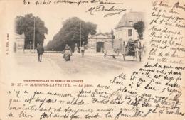 & 78 Maisons Laffitte Vues Principales Du Reseau De L' Ouest Chemin De Fer Le Parc Cpa Carte Animée Attelage Cachet 1901 - Maisons-Laffitte