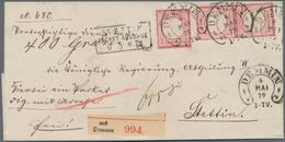 Deutsches Reich - Hufeisenstempel: DEMMIN 4 MAI 72 Auf Paketbegleitbrief Mit Kleiner Schild 3x 1 Gr - Poststempel - Freistempel