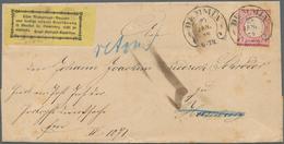 Deutsches Reich - Hufeisenstempel: DEMMIN 23 JAN 73 Auf Dienstbrief Mit Kleiner Schild 1 Gr. Und Ret - Poststempel - Freistempel