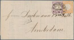 Deutsches Reich - Hufeisenstempel: HAMBURG 1 SEPTBR 74 Auf Luxus-Drucksache Nach Amsterdam Mit ¼ Gr - Poststempel - Freistempel