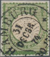 Deutsches Reich - Hufeisenstempel: HAMBURG 31 DECBR (18)74 LETZTTAGS-STEMPEL Auf Gr. Schild 1/3 Gr D - Poststempel - Freistempel