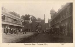 Pakistan, PESHAWAR, Edwardes Gate (1920s) Mela Ram & Sons No. 41 RPPC Postcard - Pakistan