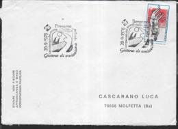 ITALIA - ANNULLO SPECIALE - BERGAMO -20.09.1978 - CAMPIONATO MONDIALE MASCHILE DI PALLAVOLO SU BUSTA VIAGGIATA - Pallavolo