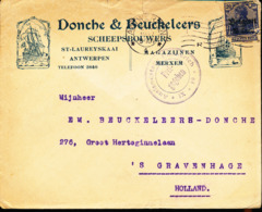 BELGIUM  WW1 COVER FROM ANTWERPEN TO GRAVENHAGE - WW I