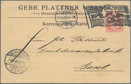 """Deutsches Reich - Stempel: 1904, Bickerdike Maschinenstempel (Miller 67) """"MANNHEIM L 13.6.04"""" Auf Pr - Poststempel - Freistempel"""