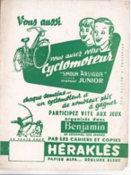 BUVARD CYCLOMOTEUR  SIMOUN ARLIGUIE Et CAHIERS HERAKLES - Bikes & Mopeds