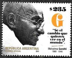 ! ARGENTINE / ARGENTINA: Mahatma Gandhi (2019) MNH *** Neufs - Mahatma Gandhi