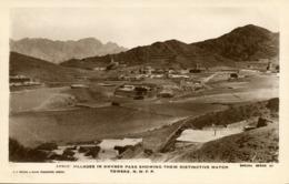 Pakistan, Afridi Villages In Khyber Pass (1920s) RPPC Postcard - Pakistan