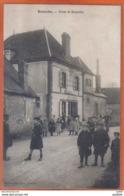 Carte Postale 28. Beauche  Route De Brezolles Café épicerie Baudran   Trés Beau Plan - France