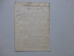 86 Chasseneuil-de-Poitou 1866 Accident Mortel Chemin De Fer, Thébault Vs Cie D'Orléans UNIQUE, Ref 818 ; PAP09 - Historische Documenten