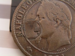 10 CTS Napoléon III 1861 K Avec Inclusion 10 CTS Cérès - UNIQUE - Francia