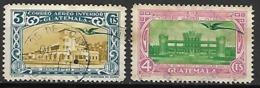 GUATEMALA      -   Aéros   -   1939 .  Y&T N° 105 / 106 Oblitérés. - Guatemala