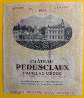 12012 - Château PEDESCLAUX 1964 Margaux - Bordeaux
