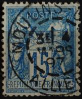 Sage N°90 Type Il O.(CAD) MOULINS-GARE 4 Mars 1897. - 1876-1898 Sage (Type II)