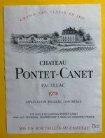 12014 - Château Pontet-Canet 1978 Pauillac - Bordeaux