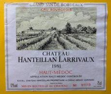 12015 - Château Hanteillan Larrivaux 1981 Haut-Médoc - Bordeaux