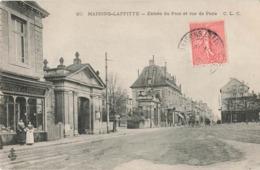 & 78 Maisons Laffitte Entrée Du Parc Et Rue De Paris Magasin Boutique Commerce Fruiterie Volailles - Maisons-Laffitte