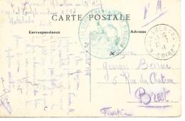 45-cachet Hôpital Comp. N°57 De Malesherbes Sur CP De 1915 - Postmark Collection (Covers)