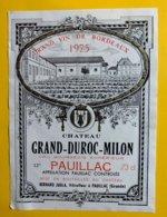 12017 - Château Grand-Duroc-Milon 1975 Pauillac - Bordeaux