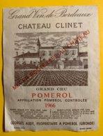 12018 - Château Clinet 1966 Pomerol - Bordeaux