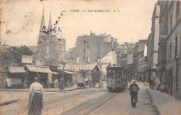 75020-PARIS- LA RUE DE BELLEVILLE - Arrondissement: 20