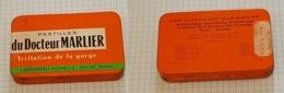 ☺♦♦ Ancienne Petite Boîte En Métal Pastilles Médicales ֎ PASTILLES MARLIER ֎ Pharmacie NOVALIS ֎ Médicament Boite Vide - Dozen