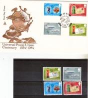 Jersey  UPU 1974 Timbres Et FDC Neuf ** TB MNH - UPU (Universal Postal Union)