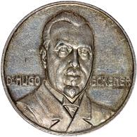 Medaillen Deutschland - Personen: DR. HUGO ECKENER; 1924, Silbermedaille Mit Kopfbild Desselben Auf - Deutschland