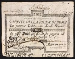 SACRO MONTE DI PIETA' ROMA 01 08 1796 10 SCUDI  BB+ R2 LOTTO 2985 - Italien
