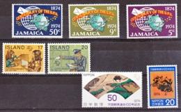 Jamaica, Japan, Island  UPU 1974 Timbres  Neuf ** TB MNH - UPU (Universal Postal Union)