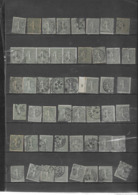 """Un Lot De 165 TP Type Semeuse Lignée N° 130, Obl Diverses + 12 Variétées """"boulé Au Pieds"""" + 9 Fragments Bien Pour étude. - 1903-60 Semeuse Lignée"""