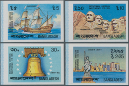 Bangladesch: 1976, Lot Of 402 IMPERFORATE Stamps And Souvenir Sheets Mi. No. 74/76 And Block No. 2B, - Bangladesch
