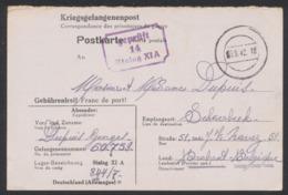 "Guerre 40-45 - Carte ""Kriegsgefangenenpost"" Expédié Du Stalag XI A (1942) Vers Schaerbeek / Censure N°14 - Weltkrieg 1939-45"