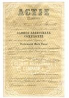 Alte Aktien / Wertpapiere: 1863, Globus Assecuranz-Compagnie, Hamburg, Gründer-Aktie 3.000 Mark, Gef - Hist. Wertpapiere - Nonvaleurs