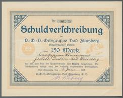 """Alte Aktien / Wertpapiere: 1922, Schuldverschreibung über 150,- Mark Der """"R.G.V.-Ortsgruppe Bad Flin - Hist. Wertpapiere - Nonvaleurs"""