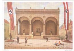 """III. Reich, Propagandakarte """" Feldherrnhalle München """" - Weltkrieg 1939-45"""