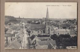 CPA 78 - LIMAY - Vue Sur L'Eglise - TB PLAN CENTRE VILLAGE Intérieur Avec Détails + Rue Centrale - Limay
