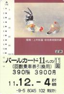 COQ - OISEAU - BIRD  - ANIMAL - Carte Prépayée Japon - Birds