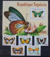 Butterflies Papillons Schmetterlinge Togo Togolaise / ** MNH - Papillons