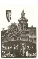"""III. Reich, Propagandakarte """" Sommer - Fest Rossbach 1935 """" , """" Wir Kehrten Heim Ins Reich 1938 """" Böhmen - War 1939-45"""