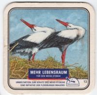 Sous Bocks Coaster FLENSBURGER PILSENER Mehr Lebensraum - Beer Mats