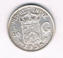 1/10 GULDEN  1938 NEDELANDS INDIE /8090/ - [ 4] Colonies