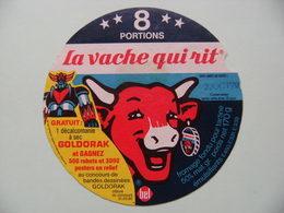 """Etiquette Fromage Fondu - Vache Qui Rit - 8 Portions Bel Pub """"Goldorak&Bandes Dessinées""""   A Voir ! - Fromage"""
