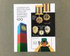 100th ANNIVERSARY OF STATE BORDER SERVICE. Azerbaijan Stamps 2019 Unusual MNH - Azerbaïjan