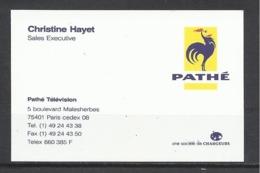 Pathé Télévision, Paris. - Cartes De Visite